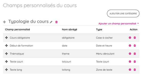 typologie cours moodle