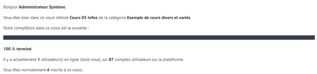 moodle filter codes infos systeme